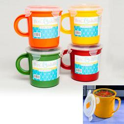 1 BPA Free Take Out Soup Coffee Mug Cup 23 oz Microwave Safe