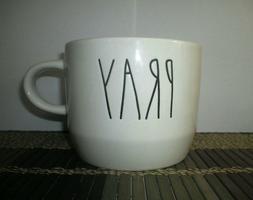 1 Rae Dunn PRAY Wide Soup/Cappuccino Ivory Mug New Artisan C