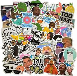 106pcs Meme stickers for laptop luggage sktateboard mug USA
