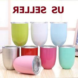 10oz Double Wall Cocktail Tumbler Wine Cup Eggshell Stainles