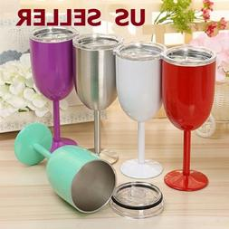 10oz Double Wall Cocktail Tumbler Wine Cup Stainless Steel G