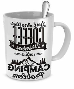 SpreadPassion 11 Ounce Camping Mug, Just Another Coffee Drin