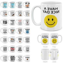 11 OZ Funny Humor Satire Mugs,Travel Home Office Ceramic Cof