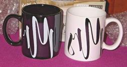 11 oz. Mr & Mrs Stoneware Coffee Mugs-Cobble Creek-Set of 2