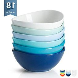 Sweese 1122 Porcelain Bowls - 18 Ounce for Cereal, Salad, De