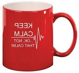 11oz Ceramic Coffee Tea Mug Glass Cup Keep Calm Ok Not That