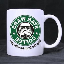 11oz mug - May The Froth Be With You - Printed Ceramic Coffe