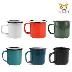 12oz Enamel Mugs Camping Hiking Coffee Milk Drinking Office