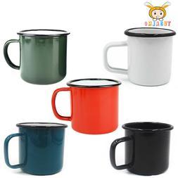 12/16 oz Enamel Mugs Cup Camping Hiking Coffee Milk Drinking
