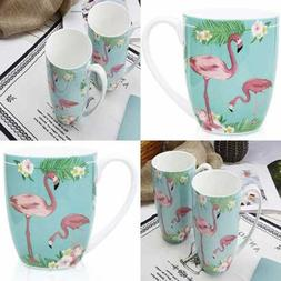 12.5 Oz Flamingos Mugs Bone Porcelain Coffee Tea Cup Animal