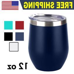 12oz Wine Mug Stainless Steel Tumbler Vacuum Double Wall Ins