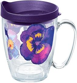 Tervis 1258354 Watercolor Pansy Insulated Tumbler with Wrap