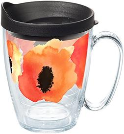 Tervis 1258388 Watercolor Poppy Insulated Tumbler with Wrap