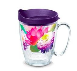Tervis 1286280 Floral Filter Tumbler with Wrap and Royal Pur