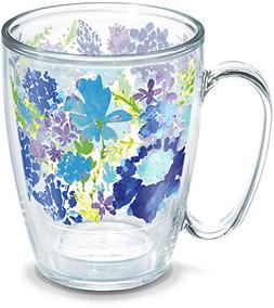 Tervis 1290788 Fiesta-Purple Floral Tumbler with Wrap, 16oz