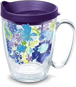 Tervis 1290905 Fiesta-Purple Floral Tumbler with Wrap and Ro