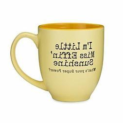 14 oz. Bistro Mug Little Miss Sunshine Kitchen Dining Entert