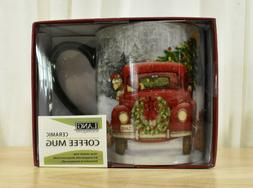 LANG 14oz Ceramic Coffee Mug Santa's Truck Christmas Mug