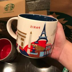 14oz Ceramic Starbucks Paris You Are Here Coffee Mug Cup YAH
