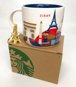 14oz Starbucks Paris You Are Here Coffee Mug Cup YAH NEW in
