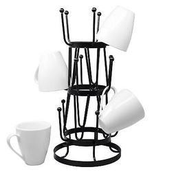 15 Mug Tree Cup Rack Coffee Stand Storage Bar Organizer Tea