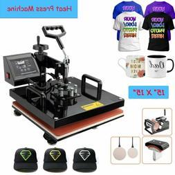 "15""x15"" 5 in 1 Heat Press Machine Digital Transfer Sublimati"
