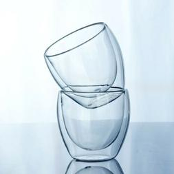 150-450ML Glass Coffee <font><b>Mug</b></font> Clear Double