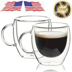 150ML 250ML Heat Resistant Double Wall Glass Cups Milk Tea C