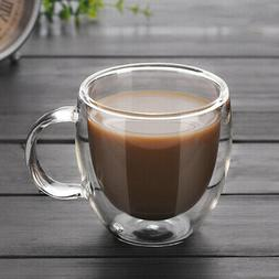 150ml Double Walled Espresso Party Cups Clear Glass Coffee T