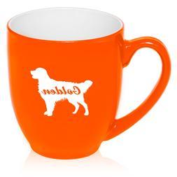 16 oz Bistro Mug Ceramic Coffee Glass Tea Cup Golden Retriev