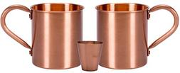Melange 16 Oz Copper Classic Mug for Moscow Mules, Set of 16