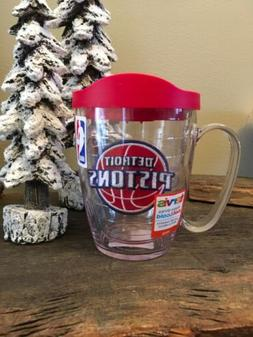 Tervis 16 oz Mug Tumbler Detroit Pistons With Red Lid NEW