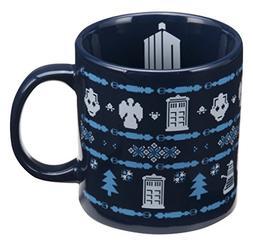 Vandor 16361 Doctor Who Ugly Sweater 20 Ounce Ceramic Mug, B