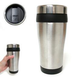16oz Cup Insulated Coffee Travel Mug Stainless Steel Double