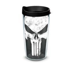 16oz Tervis - Marvel - Punisher Distressed Skull Symbol Icon