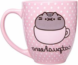 Pusheen 18 oz Mug - Polka Dot Catpusheeno Mug