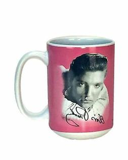 Spoontiques 19328 Elvis ceramic Coffee Mug, 14 ounces, Pink