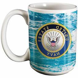 Spoontiques 19359 U.S. Navy Ceramic Coffee Mug, Ocean