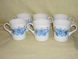 """1997-2006 Corning Corelle """" Blue Velvet Pattern """" Set of 6 M"""