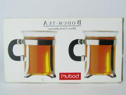 2 Bodum Glass Bistro Coffee Tea Espresso Cups Mugs