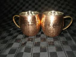 2 hammered moscow mule mug drinking cup