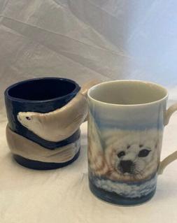 2-Harp Seal Coffee Mugs