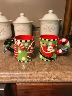 2 Mud Pie Holiday Christmas Mugs