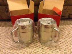 2 Metal Mugs - Cups - For Hot Or Cold Drinks
