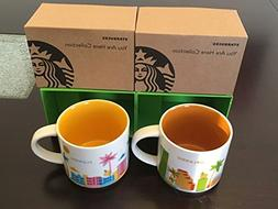 2 Mug Set: Orlando + Florida You Are Here  14 Ounce Starbuck