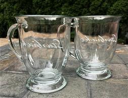 2 NEW STARBUCKS by Anchor Hocking USA 16-Oz Clear Glass Coff