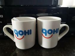 2 NEW IHOP Smiley Coffee Mug Tuxton diner cup white GREAT GI