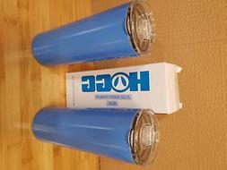 2 pack 20 oz Skinny Tumbler Vacuum Insulated Travel Mug Blue