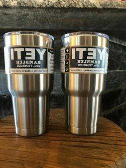 2 rambler stainless steel coffee mug cup
