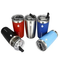 20 oz Travel Tumbler w straw lid - Insulated Cup - Stainless